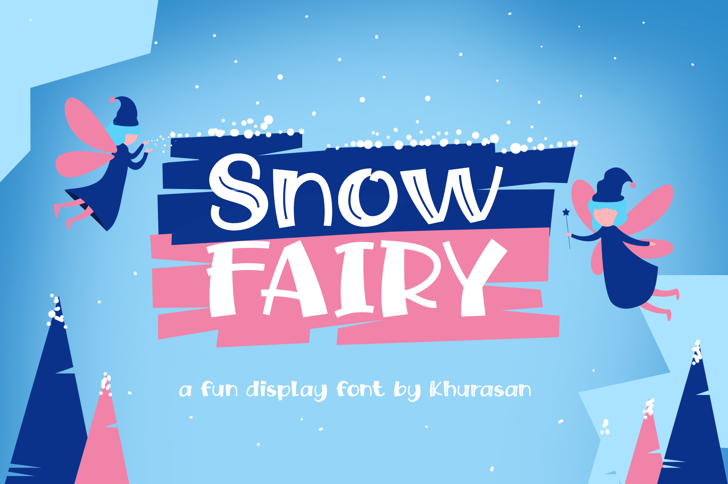 Snow Fairy Font poster