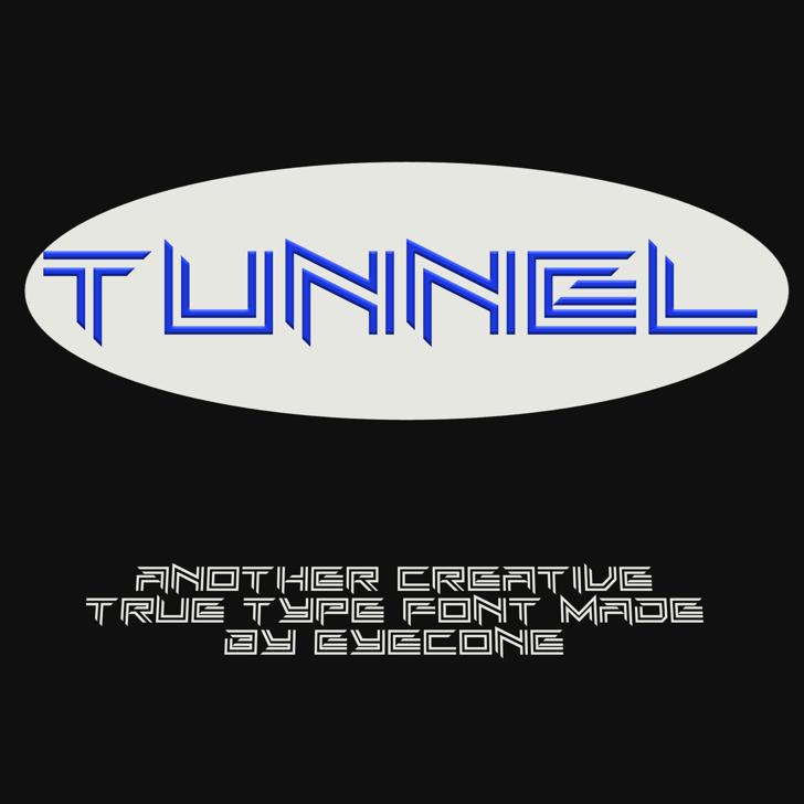 EC_Tunnel Font design graphic