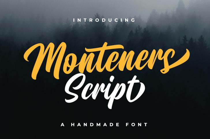 Monteners Script Font poster