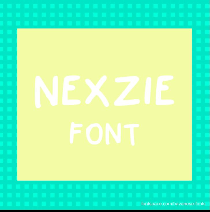 Nexzie Font design graphic