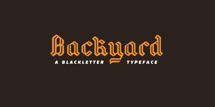 Backyard PERSONAL Font design screenshot