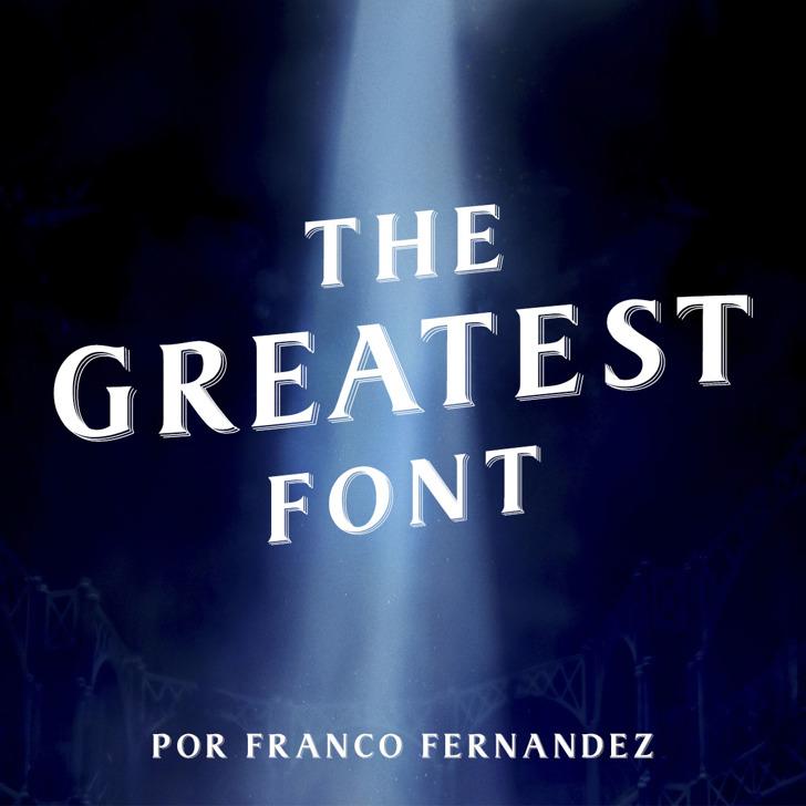 The Greatest Font screenshot text