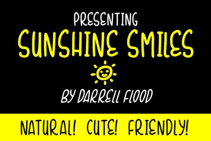Sunshine Smiles Font screenshot text