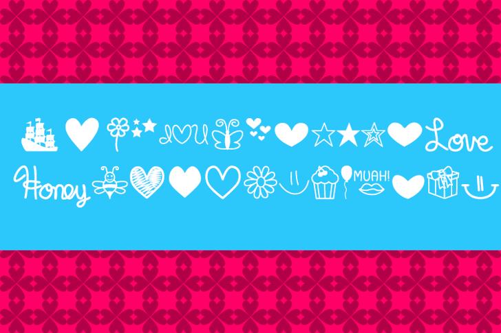 MF Dings  Font screenshot design