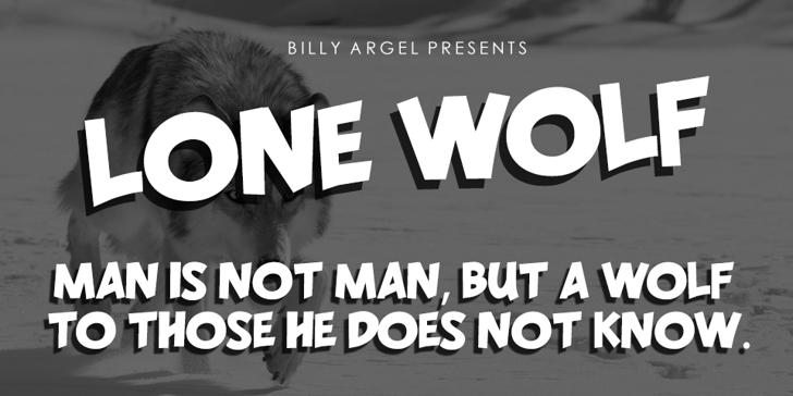 LONE WOLF PERSONAL USE Font text screenshot