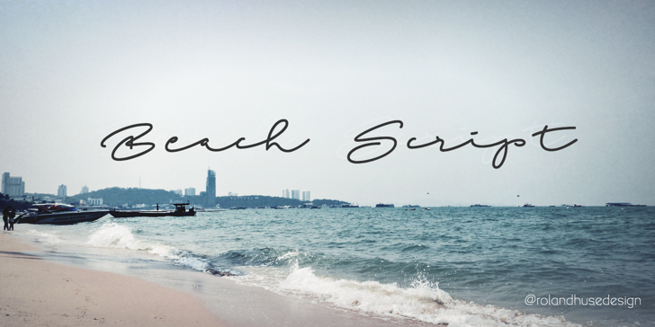 Beach Script Font sky water