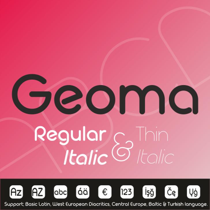 Geoma Thin Demo Font screenshot design