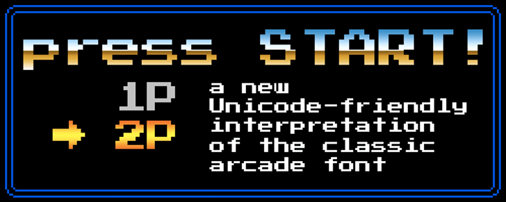 Press Start 2P Font screenshot design