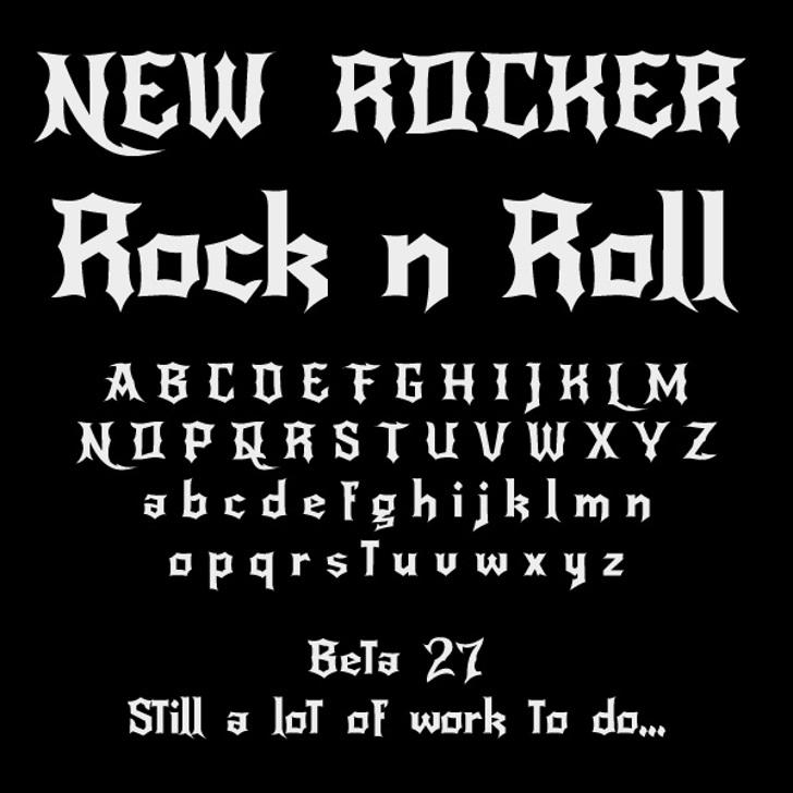 NewRocker Font text design