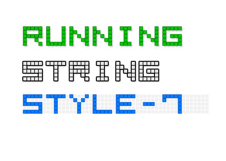 LED Display7 Font design font