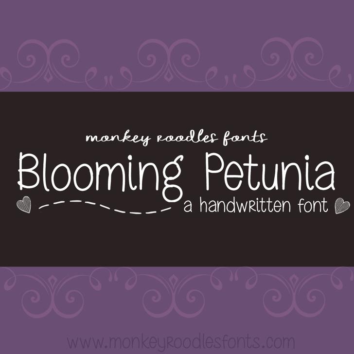 MRF Blooming Petunia Font text screenshot