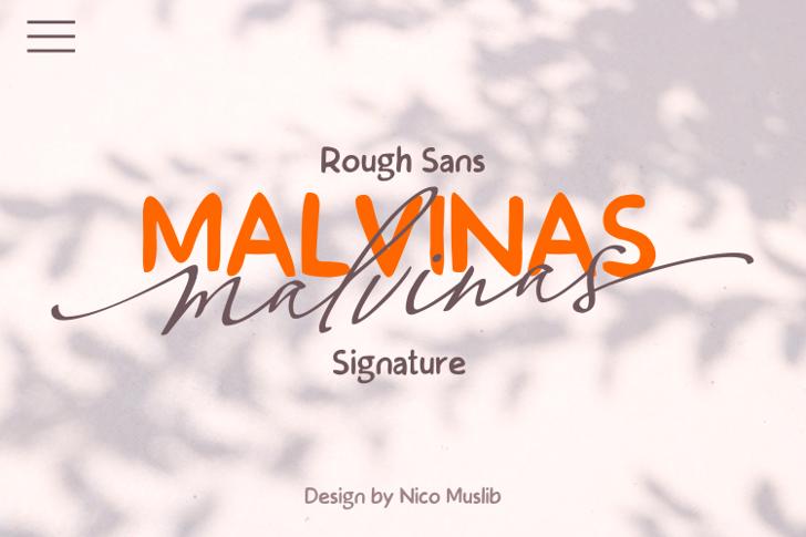 Malvinas Signature Font poster
