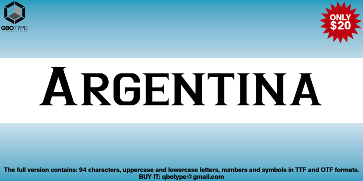 Argentina Font design abstract