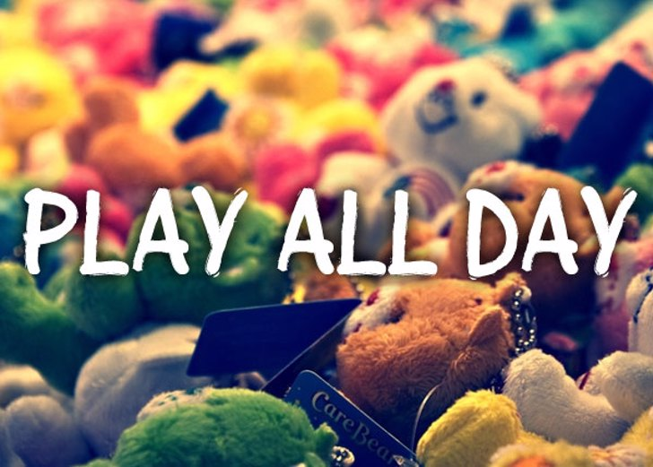 Play all day Font indoor screenshot