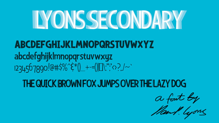 Lyons Secondary Font screenshot text