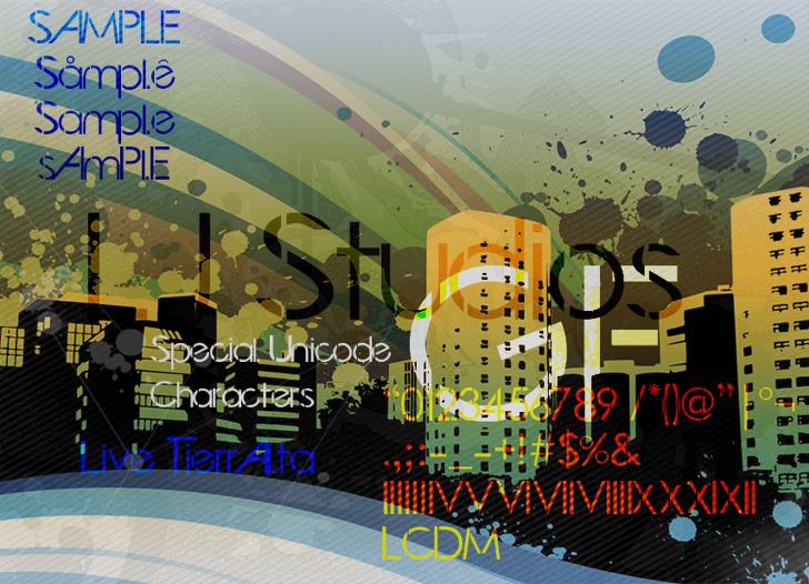 LJ Studios GF Font cartoon screenshot