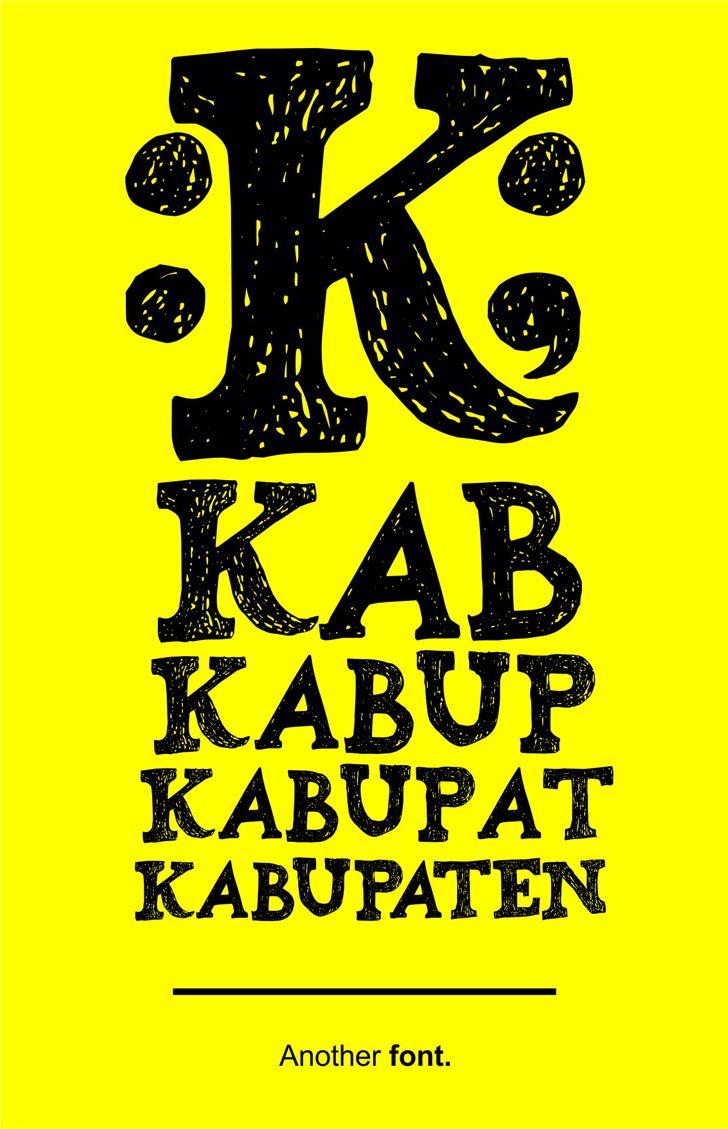 Kabupaten Font text poster