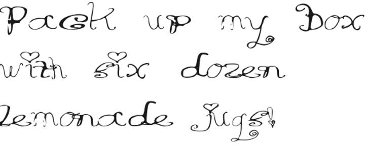 RiordonFancy Font handwriting text