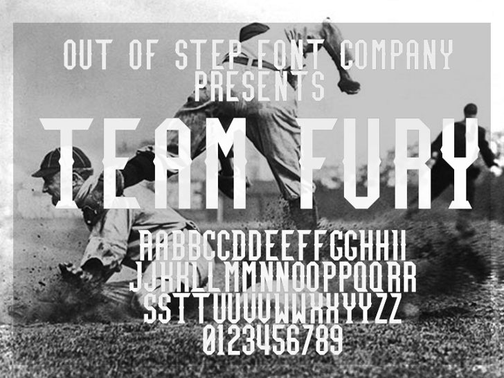 Team Fury Font poster cemetery