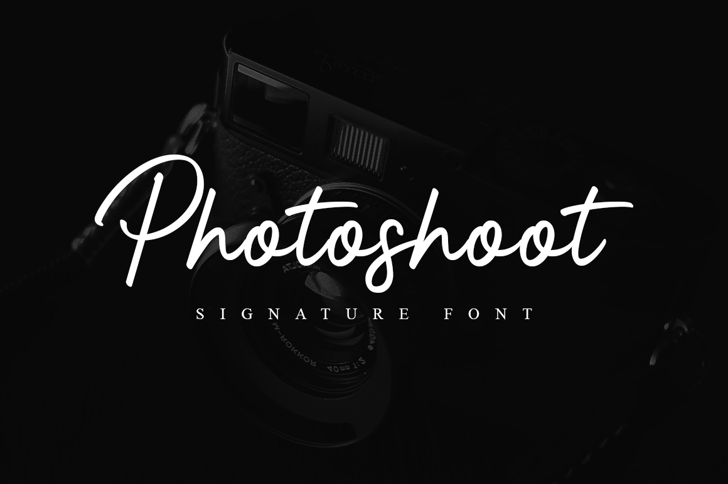 Photoshoot Font poster