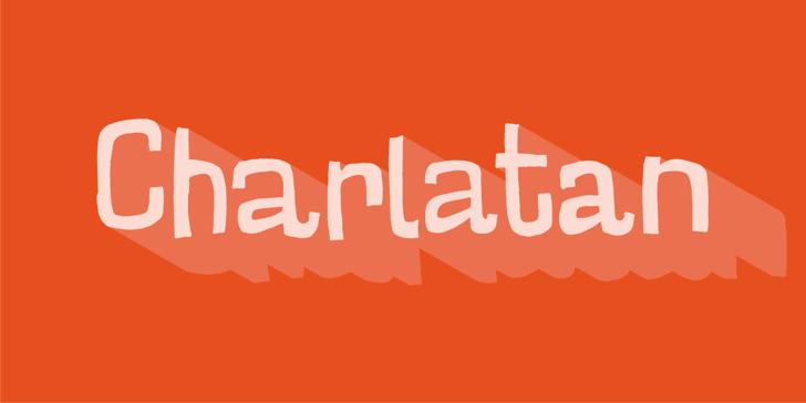 Charlatan DEMO Font design graphic