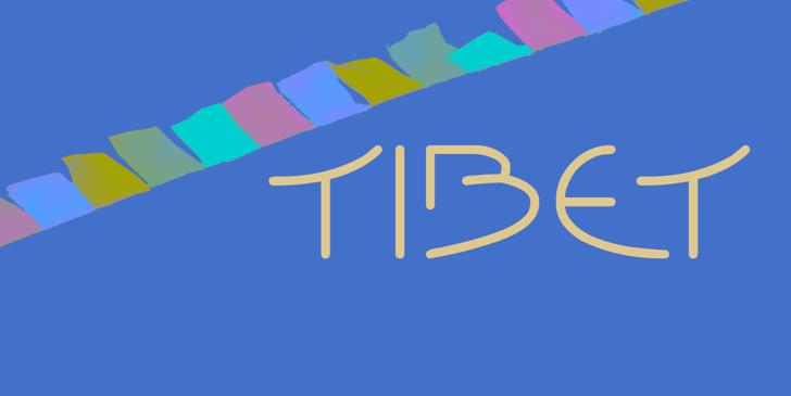 Tibet Font design cartoon