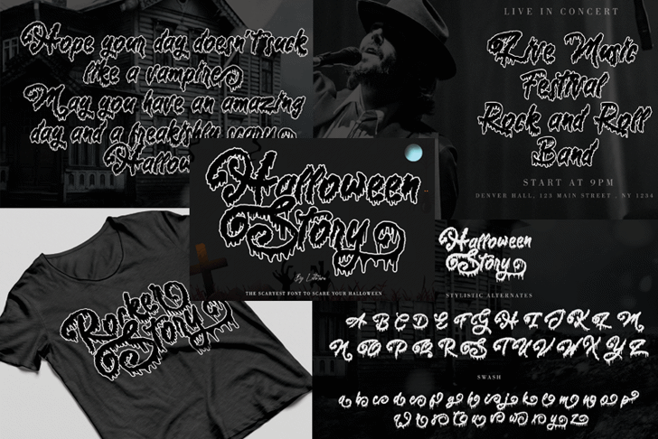 Halloween Story Font poster