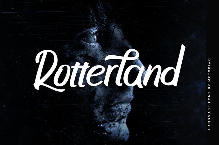 Rotterland Font poster