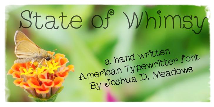 StateOfWhimsy Font flower handwriting