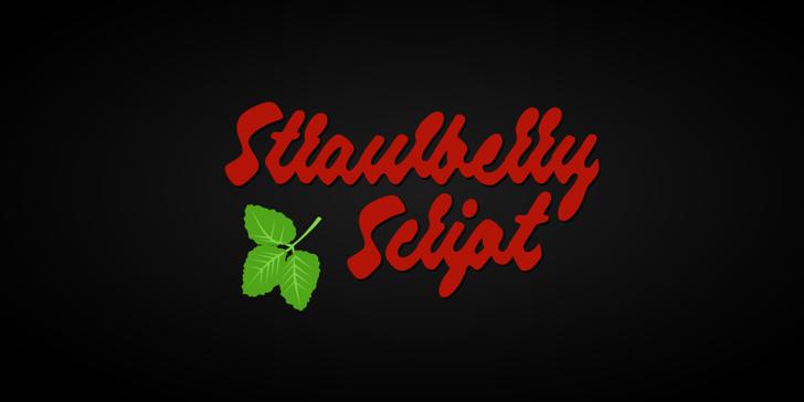 Strawberry Script PERSONAL USE Font design graphic