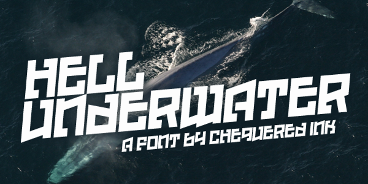Hell Underwater Font outdoor text