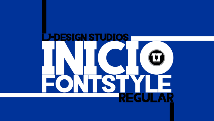 INIICO Font screenshot design