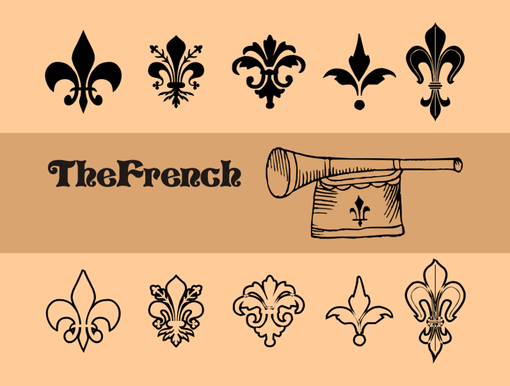 TheFrench Font cartoon drawing
