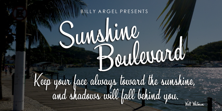 Sunshine Boulevard Personal Use Font text typography