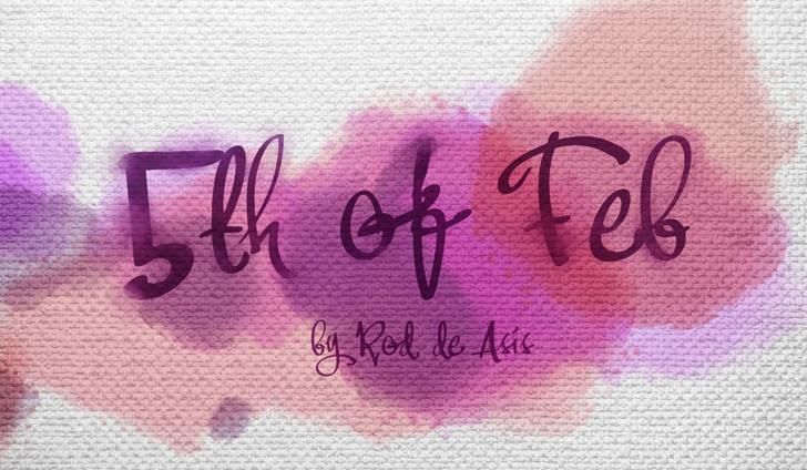 Fifth Of Feb Font handwriting fabric