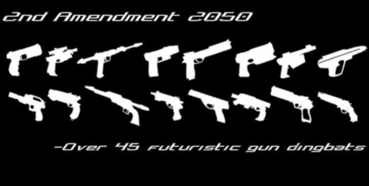 2nd Amendment 2050 Font guns