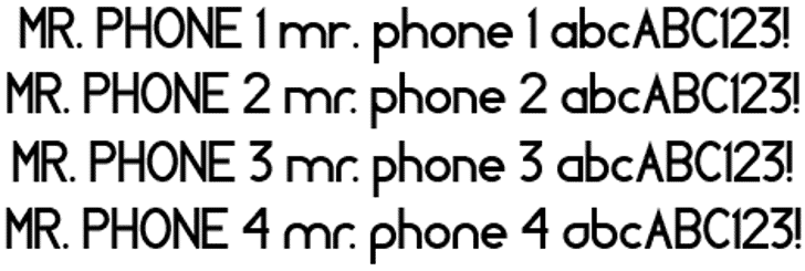 MR. PHONE Font screenshot font