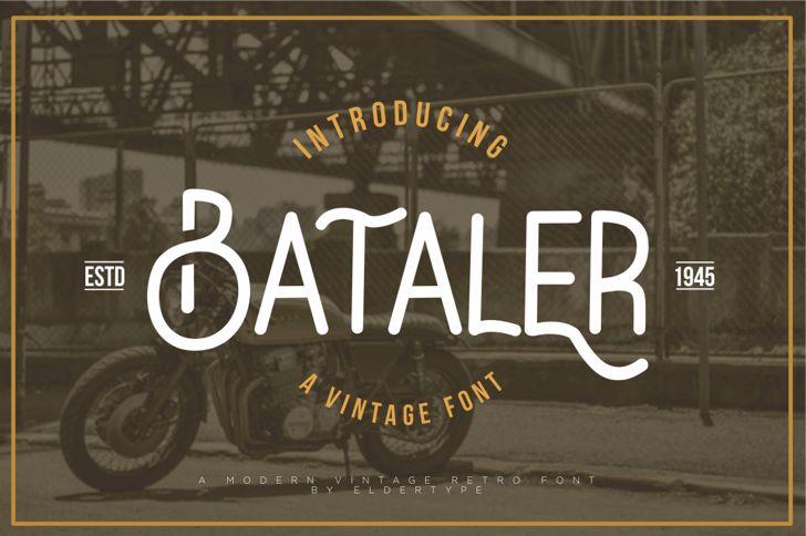 Bataler Font screenshot poster
