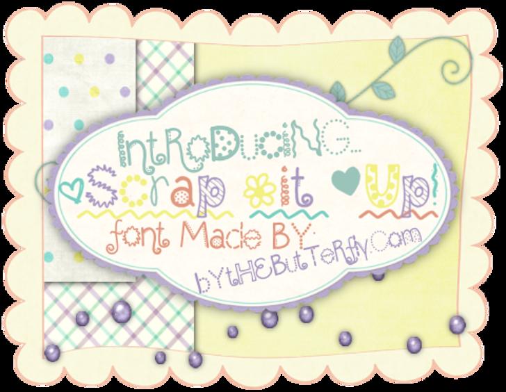 ScrapItUp Font cartoon child art