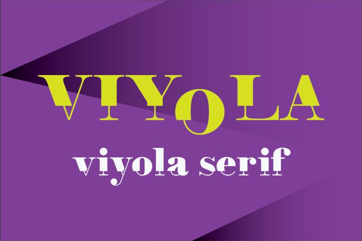 Viyola Font poster