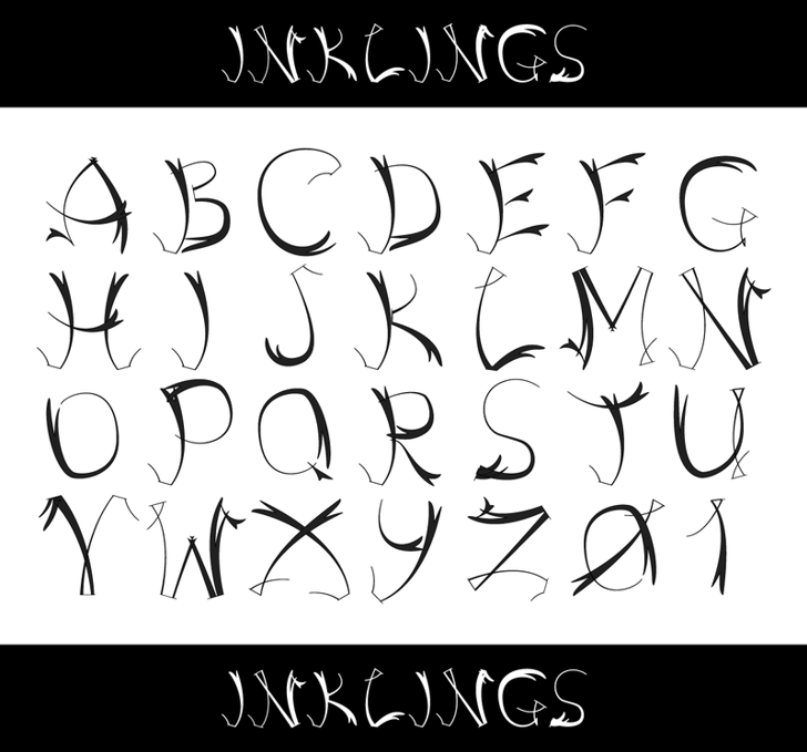 Inklings Font cartoon drawing