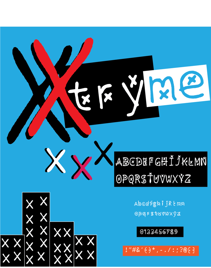 xtryme Font screenshot graphic