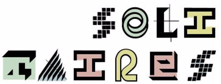 Solitaires Font design clipart