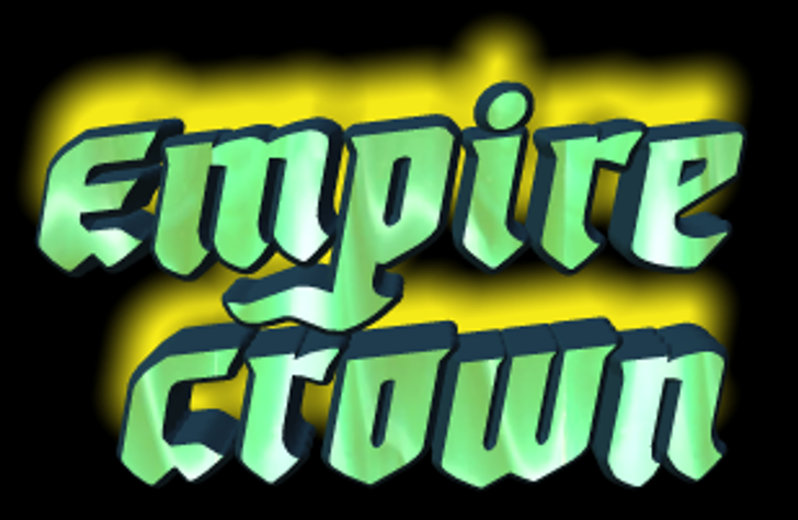 Empire Crown Font cartoon abstract