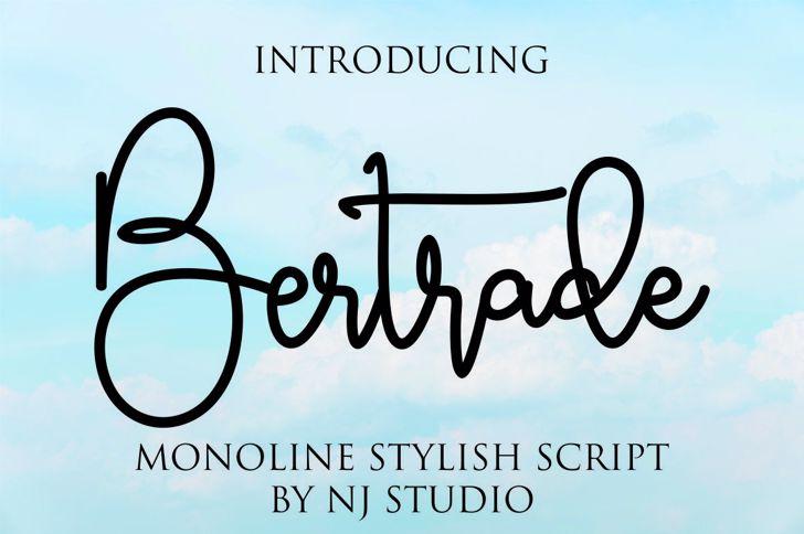 Bertrade Font poster