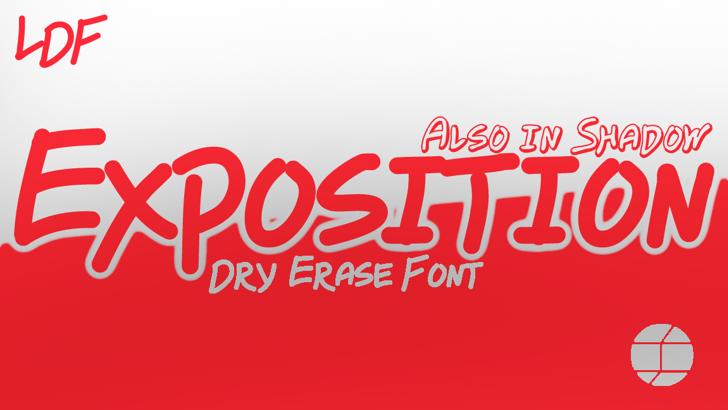 Exposition Font design graphic