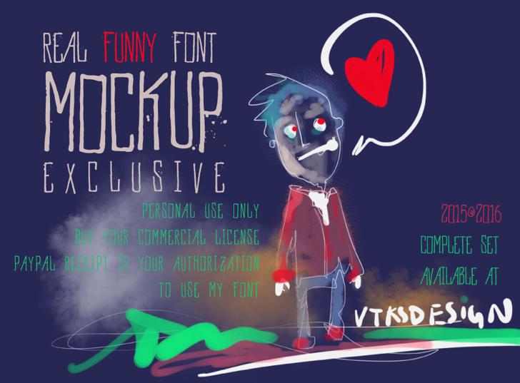 Vtks MockUp Font cartoon text