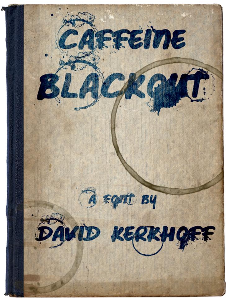 Caffeine Blackout Font handwriting text