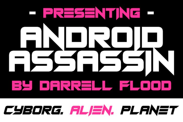 Android Assassin Font screenshot poster