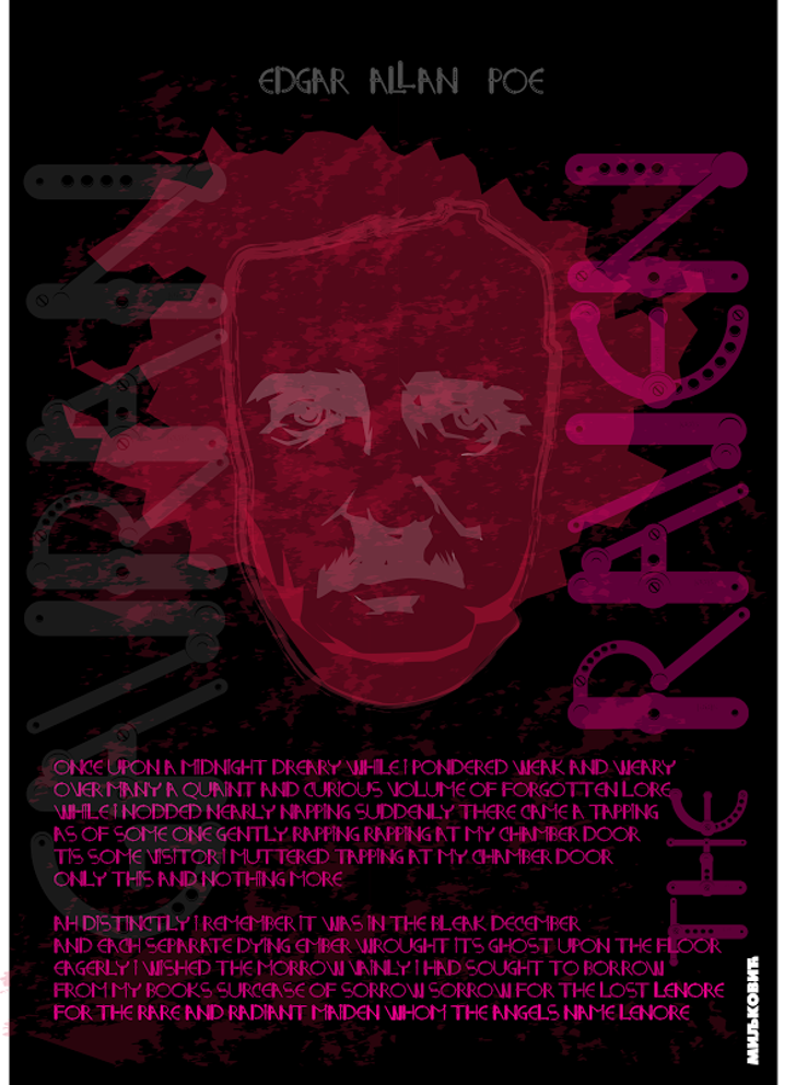 STEEL_NM_OTF Font drawing poster